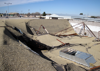 Commercial roof collapse