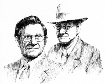 Charles Wayne Parish and Walter G. Haag, founders of Haag Engineering Co.